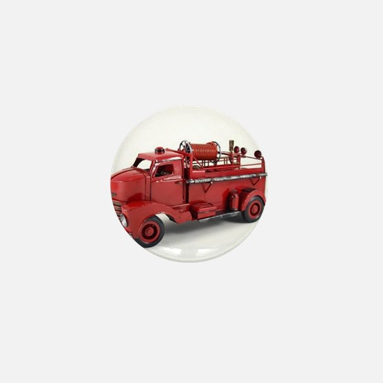 Vintage Metal Fire Truck Mini Button