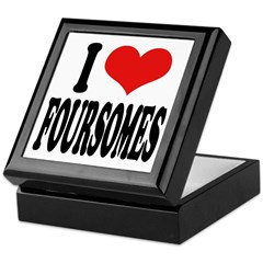 I Love Foursomes Keepsake Box