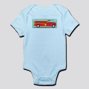 Kids Style Fire Truck with Dalmatian Body Suit