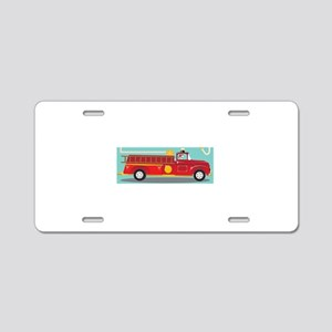 Kids Style Fire Truck with Aluminum License Plate