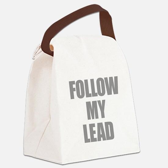 Follow My Lead Canvas Lunch Bag