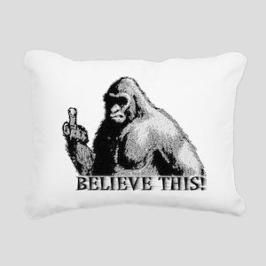 Believe This! Rectangular Canvas Pillow