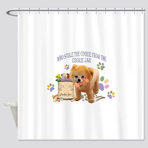 Pomeranian Store The Cookie Shower Curtain