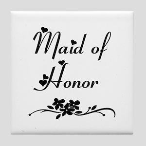 Classic Maid of Honor Tile Coaster
