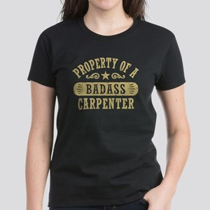 Property of a Badass Carpente Women's Dark T-Shirt