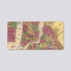 Vintage Map of NYC and Broo Aluminum License Plate