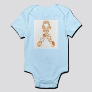 MS - Multiple Sclerosis Ribbon Word Art Body Suit