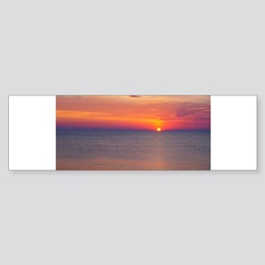 Sunrise over the Atlantic Ocean.... Bumper Sticker