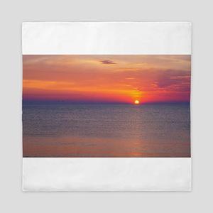 Sunrise over the Atlantic Ocean.... Queen Duvet