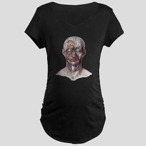 Human Anatomy Face Maternity T-Shirt