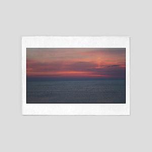 Daybreak Over The Atlantic Ocean 5'x7'Area Rug