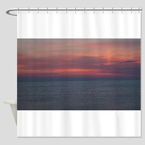 Daybreak Over The Atlantic Ocean Shower Curtain