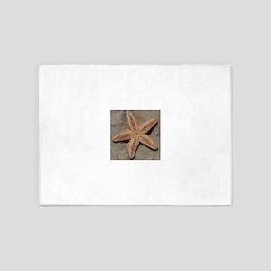 One Perfect Starfish.... 5'x7'Area Rug