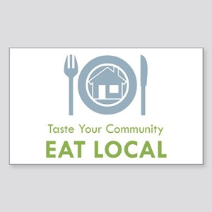 Taste Local Rectangle Sticker