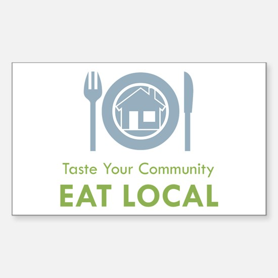 Taste Local Rectangle Decal