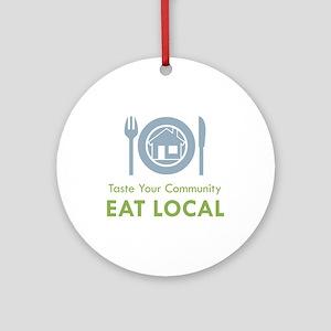 Taste Local Ornament (Round)