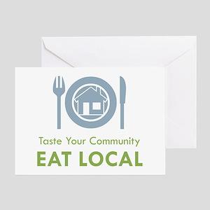 Taste Local Greeting Card
