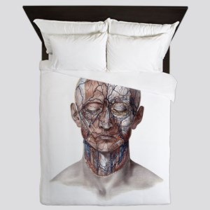 Human Anatomy Face Queen Duvet