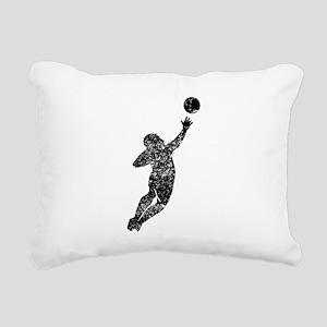 Vintage Soccer Goalie Rectangular Canvas Pillow