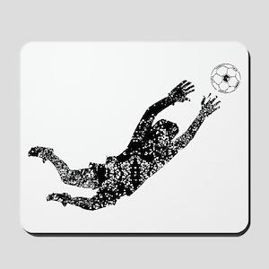 Vintage Soccer Goalie Mousepad