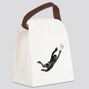 Vintage Soccer Goalie Canvas Lunch Bag