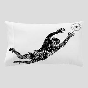 Vintage Soccer Goalie Pillow Case