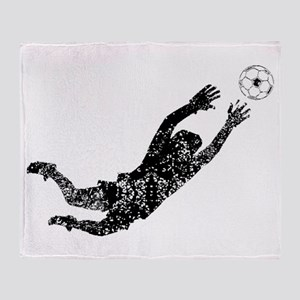 Vintage Soccer Goalie Throw Blanket