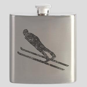 Vintage Ski Jumper Flask