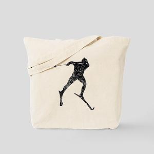 Vintage Cross Country Skier Tote Bag