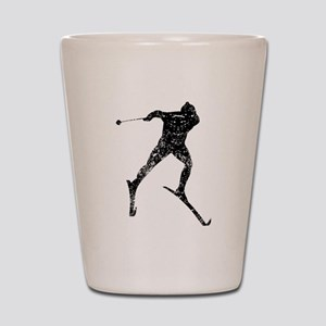 Vintage Cross Country Skier Shot Glass