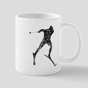 Vintage Cross Country Skier Mugs