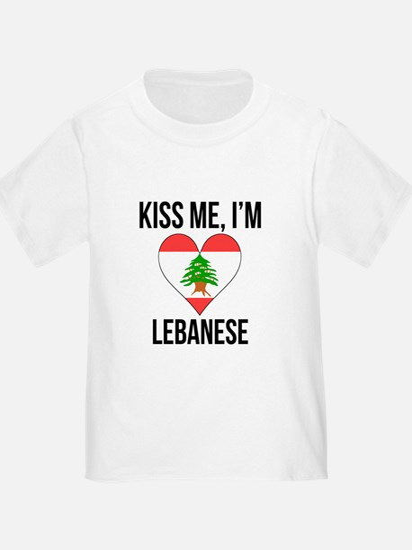 Kiss Me Im Lebanese T-Shirt