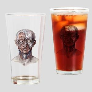 Human Anatomy Face Drinking Glass
