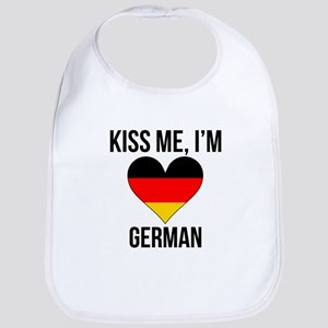 Kiss Me Im German Bib