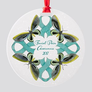 Facial Pain Awareness Christmas Round Ornament
