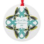 Facial Pain Awareness Christmas Round Ornament