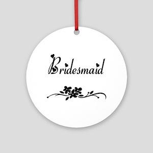 Classic Bridesmaid Ornament (Round)