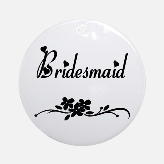 Classic Bridesmaid Ornament (Round)