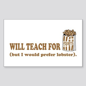 Unique gifts for teachers Rectangle Sticker