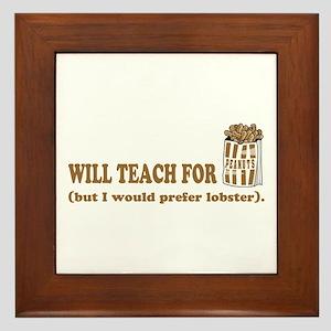 Unique gifts for teachers Framed Tile
