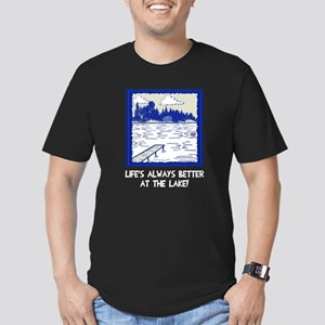 Life is always better Men's Fitted T-Shirt (dark)