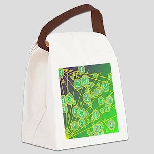 Random bits Canvas Lunch Bag