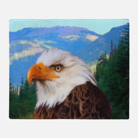 Bald Eagle Throw Blanket