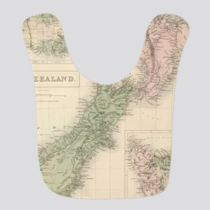 Vintage Map of New Zealand (1854) Bib