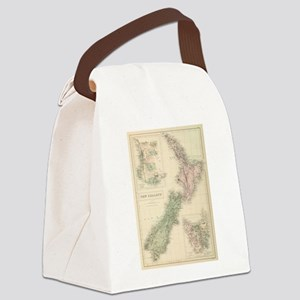 Vintage Map of New Zealand (1854) Canvas Lunch Bag