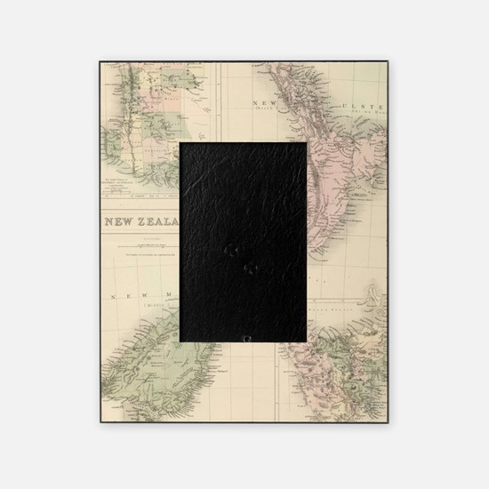 Vintage Map of New Zealand (1854) Picture Frame