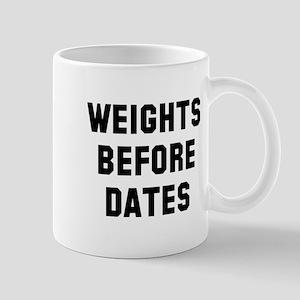Weights before dates Mug