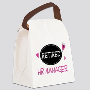 Retired HR Manager Canvas Lunch Bag