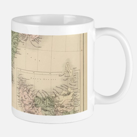 Vintage Map of New Zealand (1854) Mugs