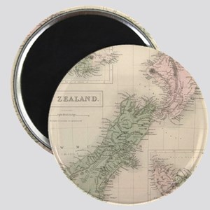 Vintage Map of New Zealand (1854) Magnets